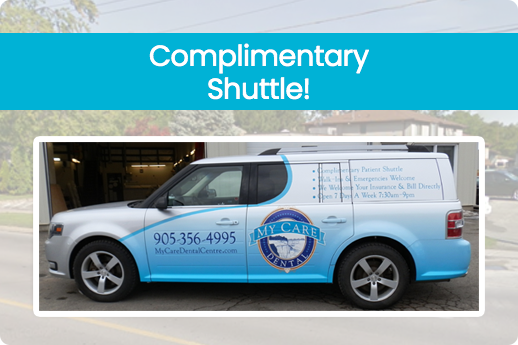 photo of shuttle van from niagara falls dentist