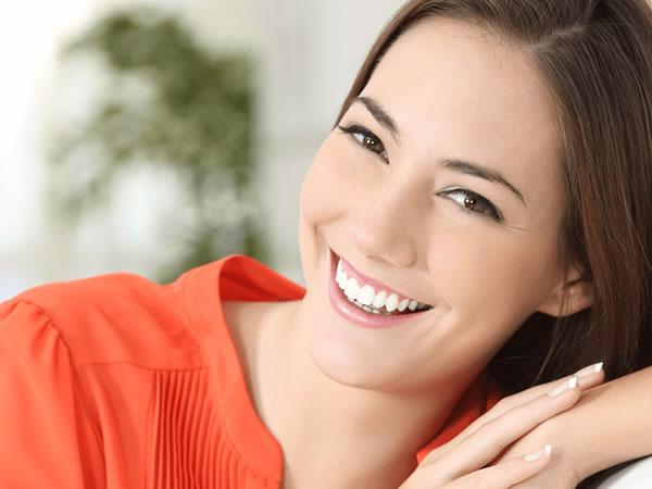 woman smiling after Niagara Falls Dentist visit